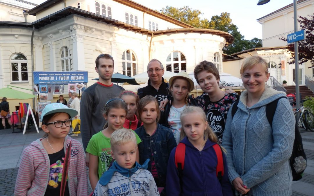 Uczestnicy I turnusu obozu w Międzyzdrojach