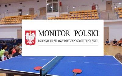 Obwieszczenie Ministra Sportu w sprawie kwalifikacji trenerkich w tenisie stołowym